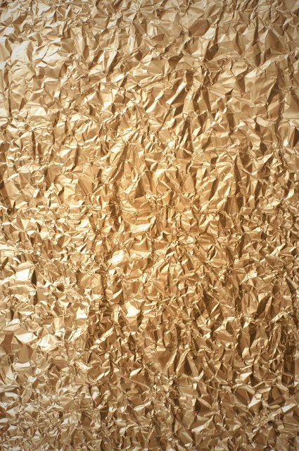 Crumpled Gold Foil Background