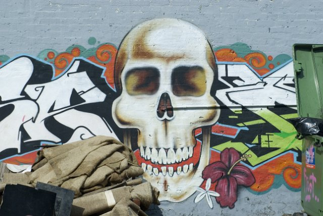 Graffitii Wall Skull Free Backgrounds And Textures