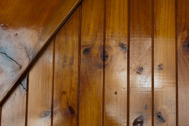 lacquered wooden planks in a building