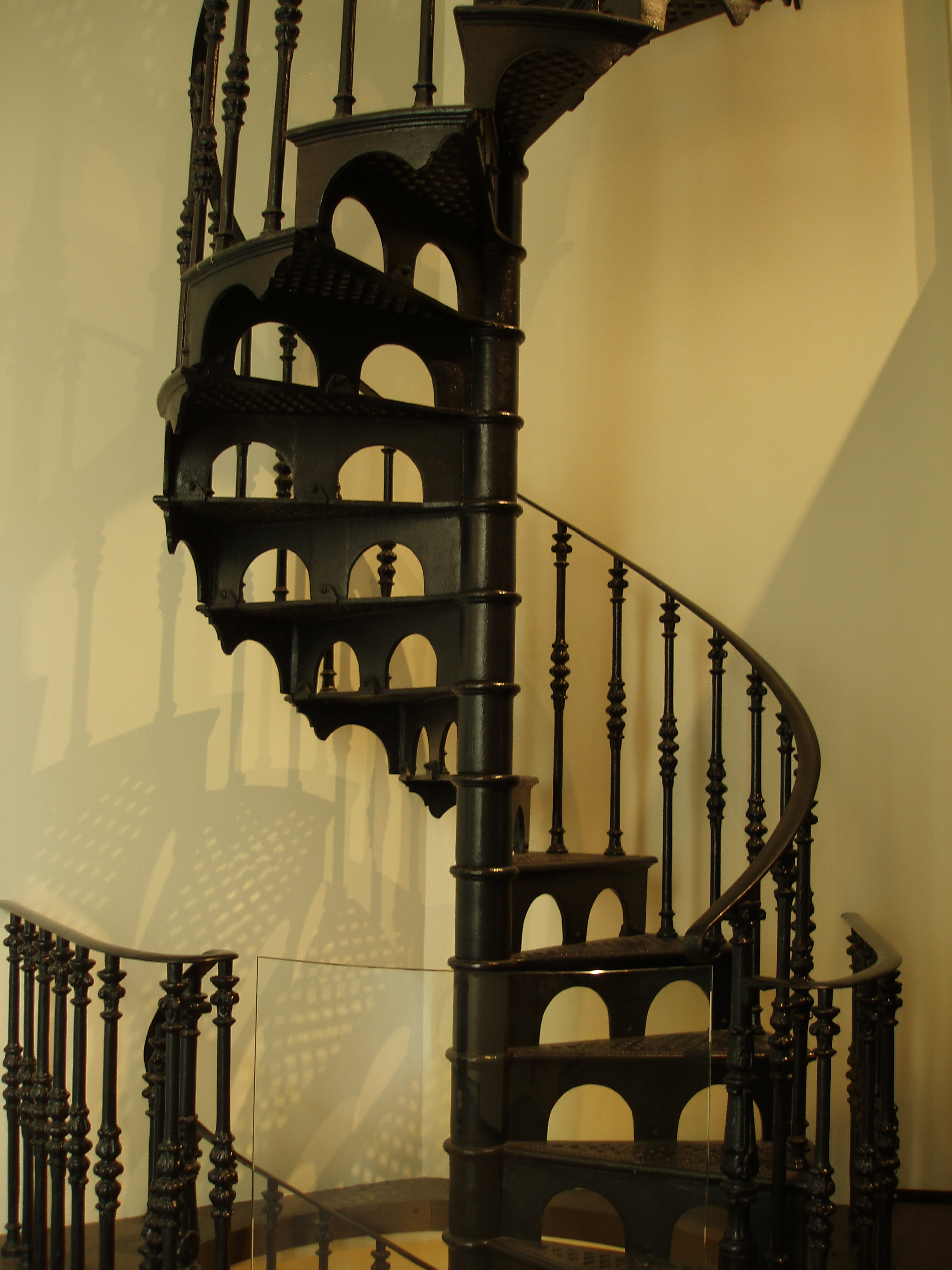 a classic design cast iron spiral staircase