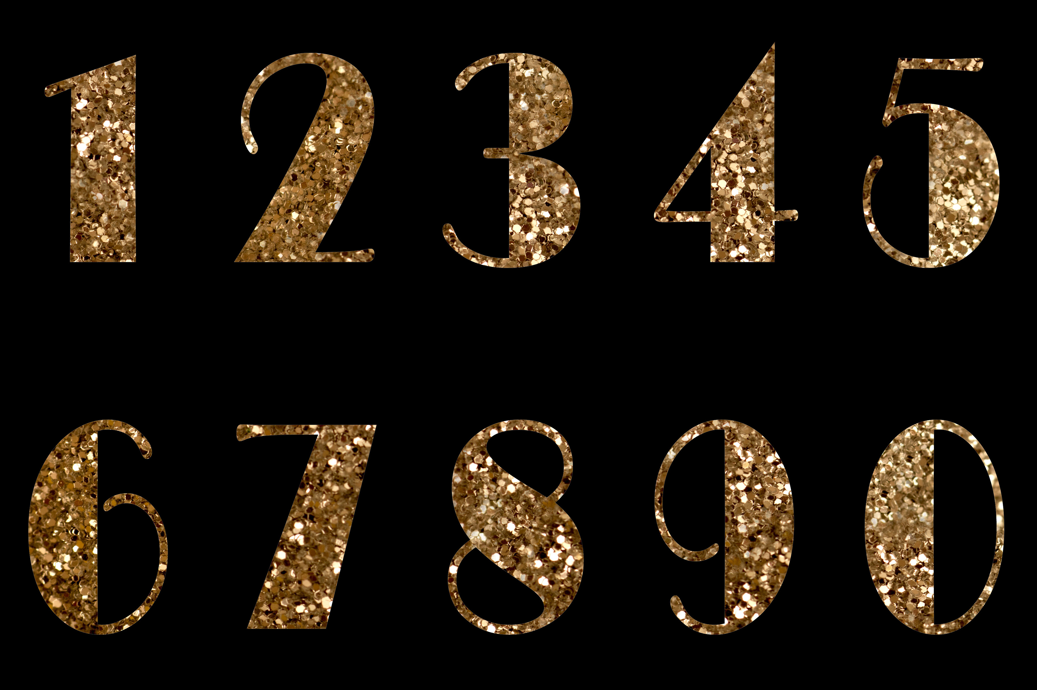 Golden glittering numbers | Free backgrounds and textures ...