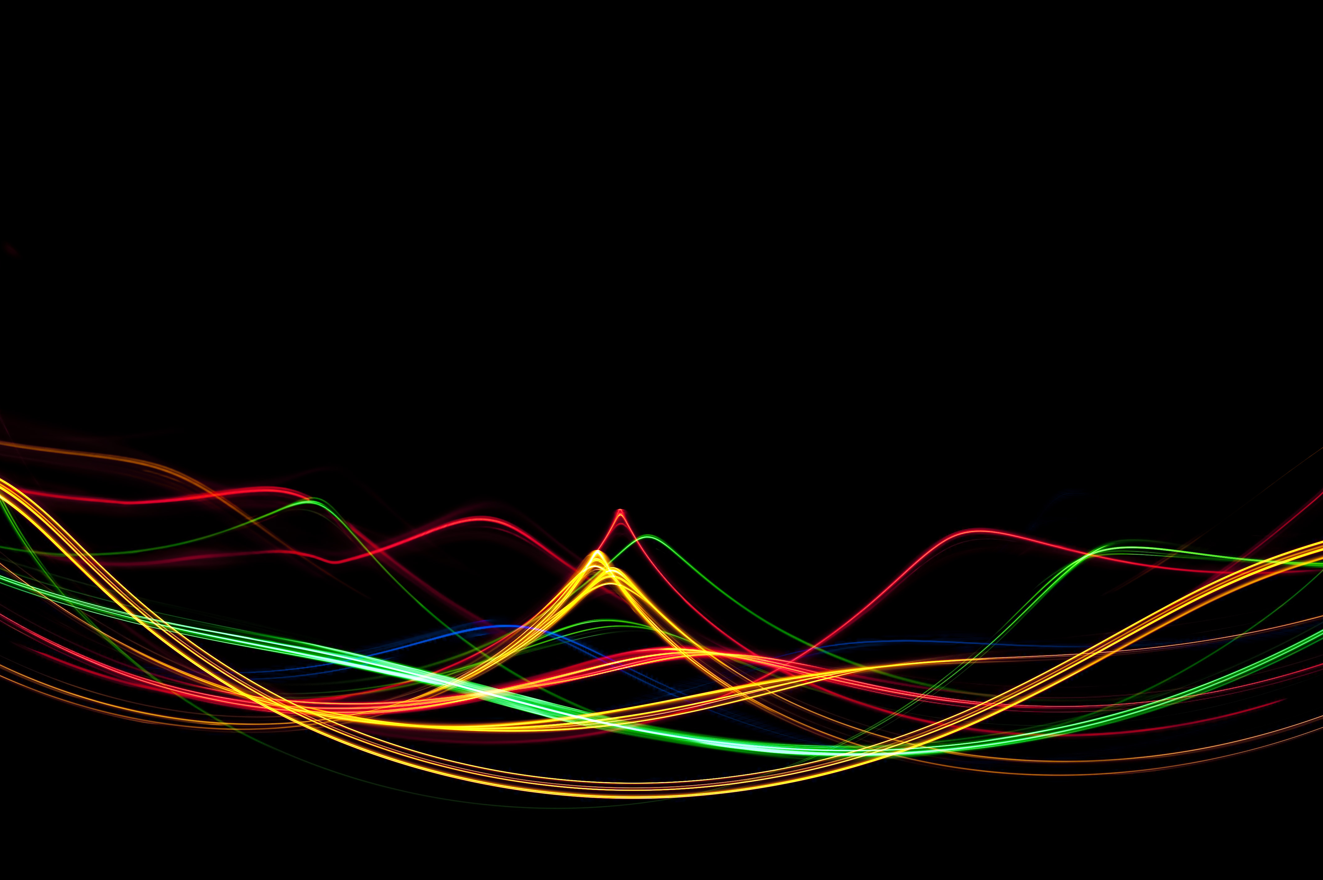 k abstract looped backgrounds with luminous particles with depth of